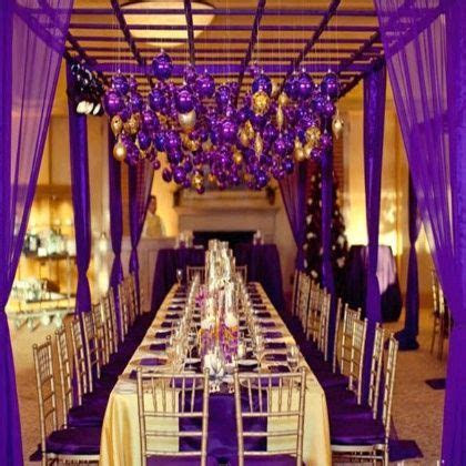 royal purple and gold wedding   Royal Castle in Purple and