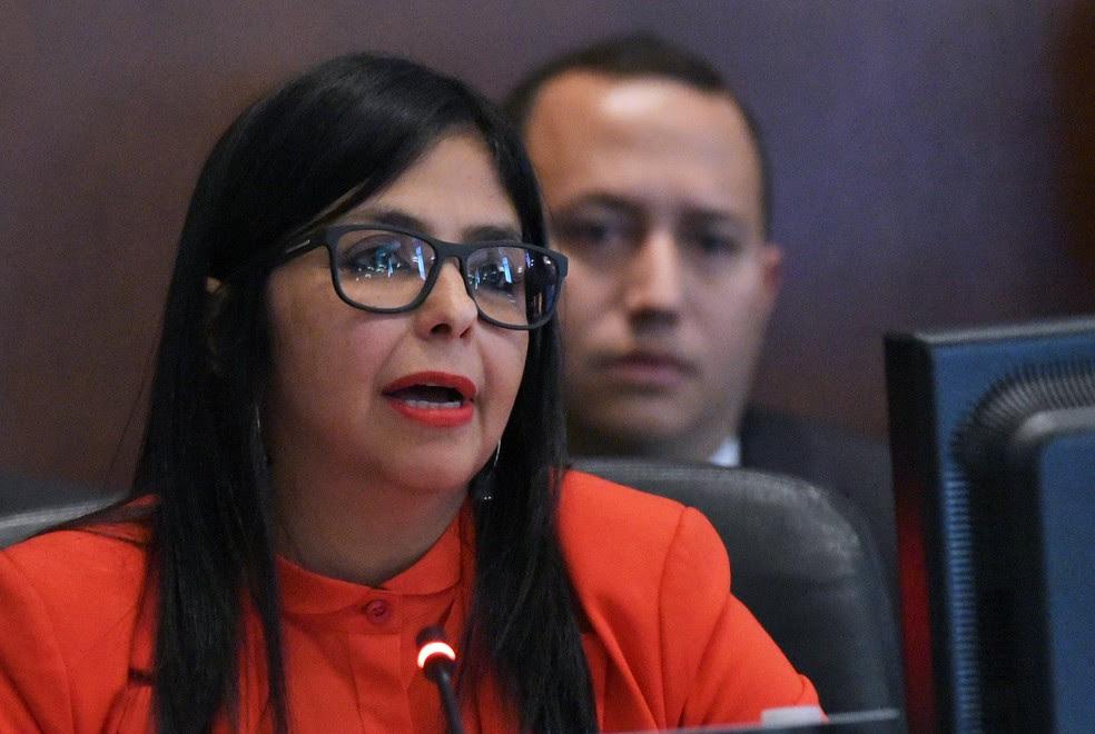 Delcy Rodríguez, chanceler da Venezuela, em imagem de arquivo (Foto: Mandel Ngan/AFP)