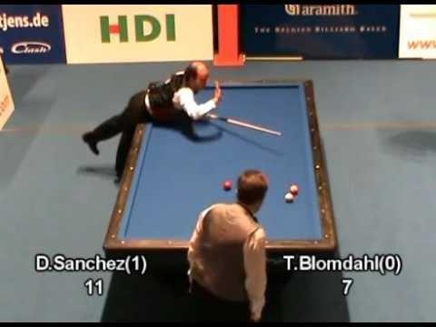 3 cushion: What a game!! Sanchez vs Blomdahl - video