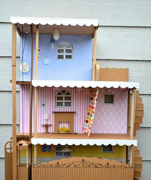 Ikat Bag Cardboard Barbie House