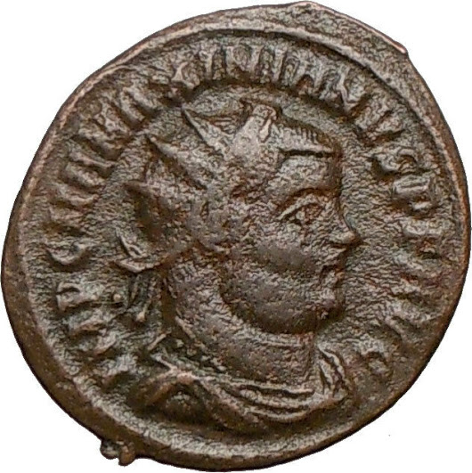 MAXIMIAN receiving Victory from Jupiter Zeus 295AD Ancient Roman Coin i24647 | ShopNetOne