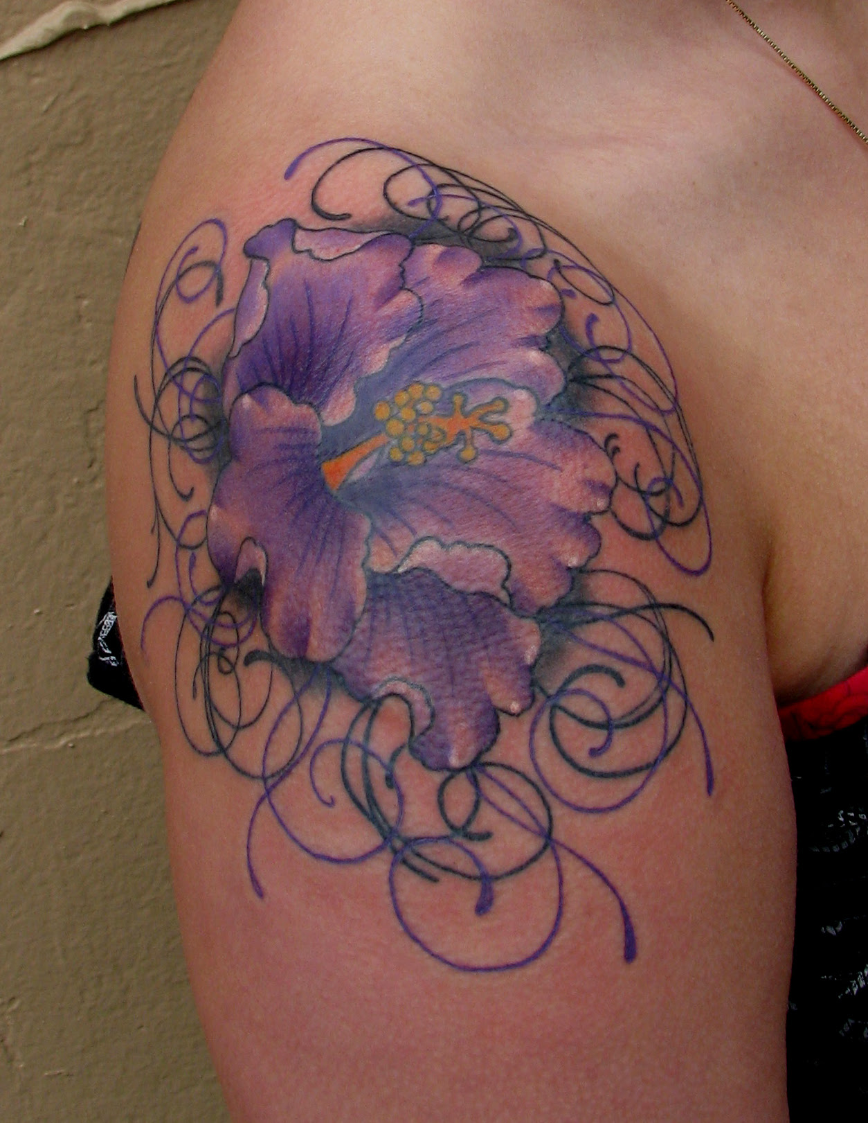 Family Wallpaper Flower Sleeve Chest Tattoos By
