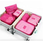 Tagco USA TI-6TO-PIN Travel Luggage Organizer, Pink - 6 Piece