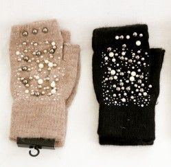 Pearl & Fur Gloves | Bijoux London