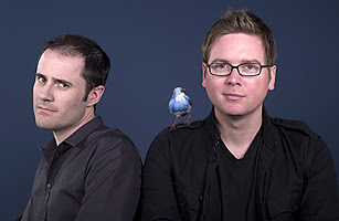 Evan Williams and Biz Stone of Twitter
