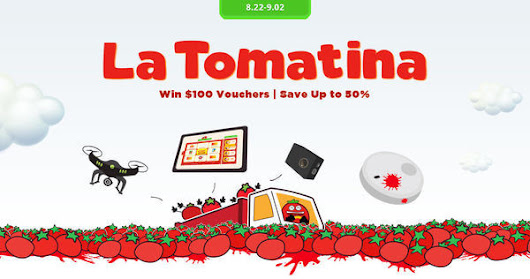 Join the tomato throwing game and win up to $100 vouchers! - GeekBuying.com