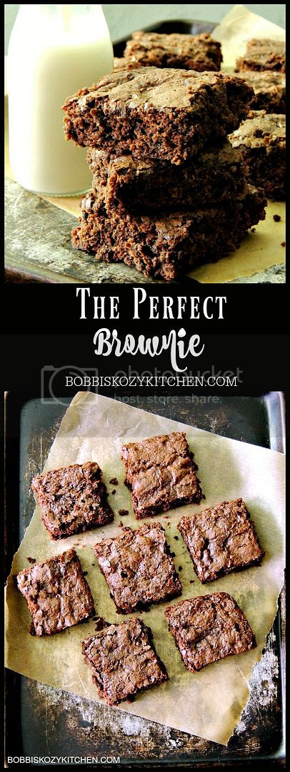 These brownies are cakey and gooey all at the same time, which pretty much makes the the best brownies ever! From www.bobbiskozykitchen.com