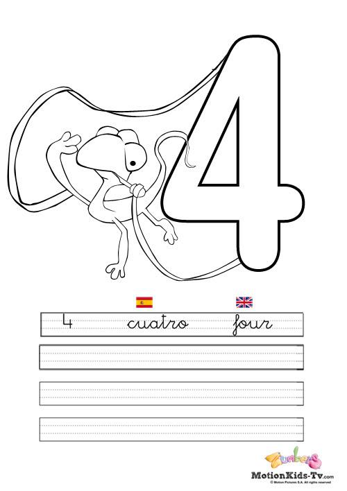 Actividades educativas para niños. Colorear y aprender los números ...