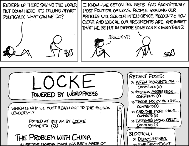 Ender's Game XKCD comic blogging