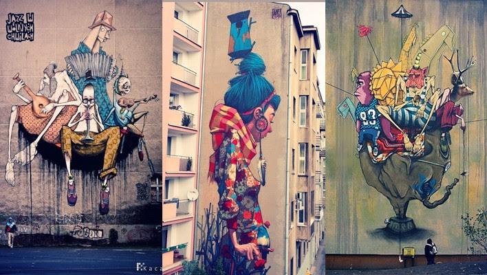 Creative Street Art Wall Murals by Etam Cru   Downgraf