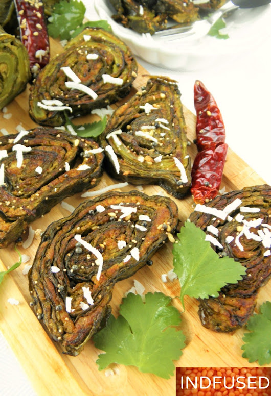 Savory Collard Green Vadi