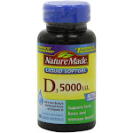 Nature Made Vitamin D3 5000 IU Liquid Softgels 90 ea by Pharmapacks