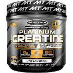 MuscleTech Essential Series Platinum 100% Creatine Dietary Supplement Powder - 0.88 lb canister