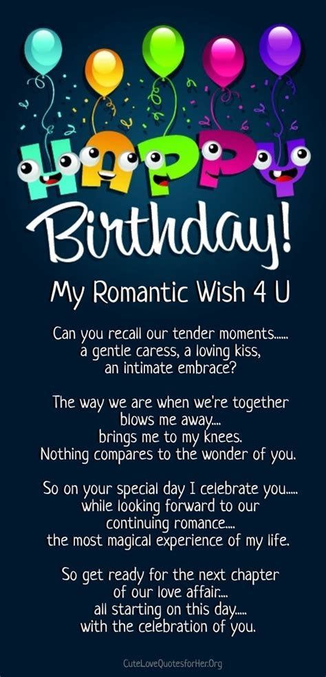 a happy birthday poem romantic   Cute Love Quotes for Her