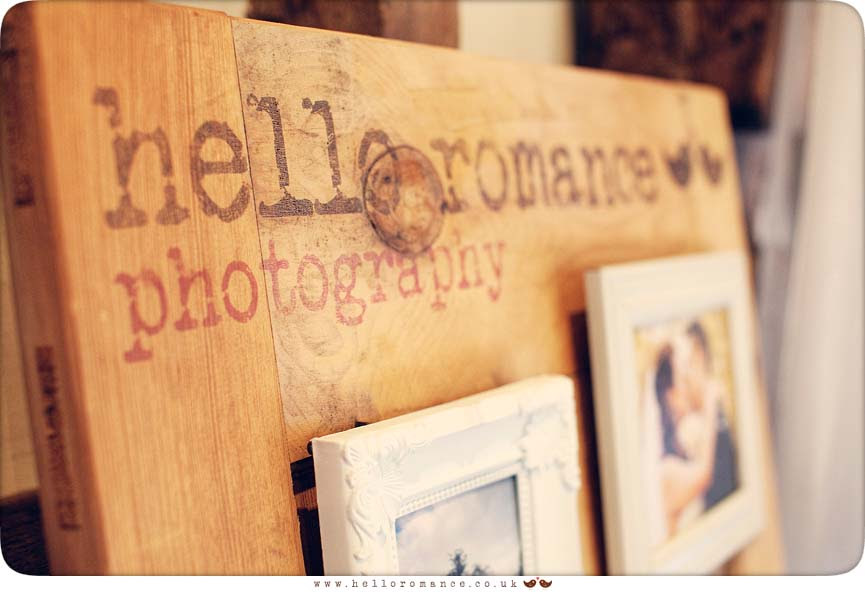 Hello Romance Wedding Photography stand at Haughley Park Barn Wedding Venue Suffolk
