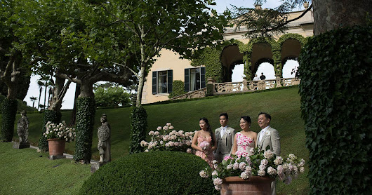 Vow renewal on Lake Como | An intimate blessing ceremony at Villa del Balbianello