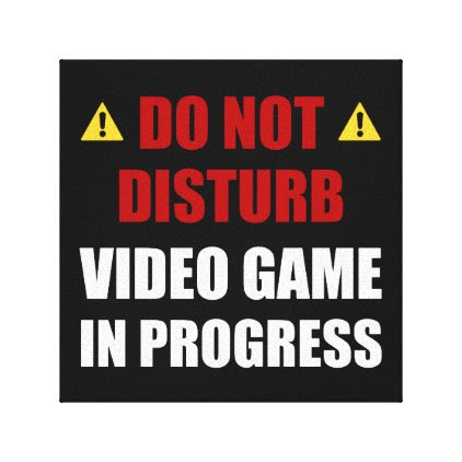 Do Not Disturb Video Game Canvas Print