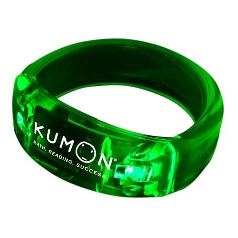Printed 8 in. Light Up LED Glow Bangle Bracelets   WCLIT02