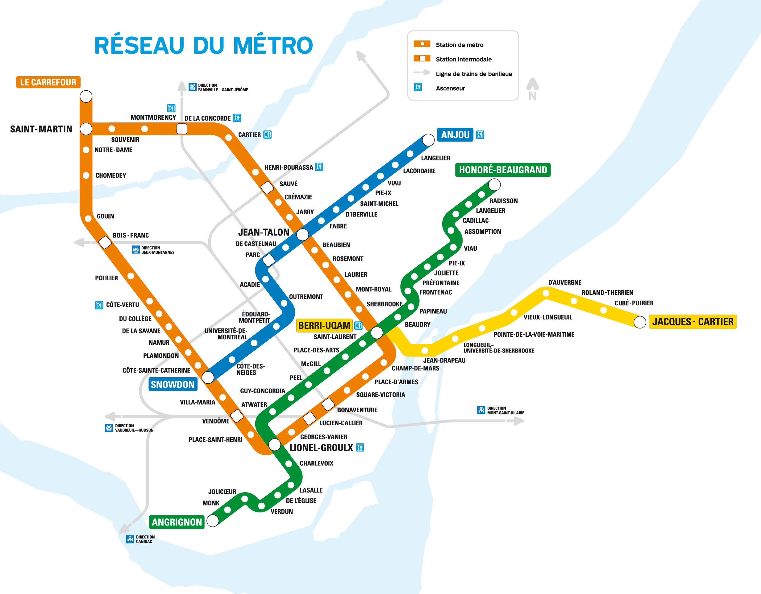 Montrela Subway Map.Montreal Metro Map Map Of Africa
