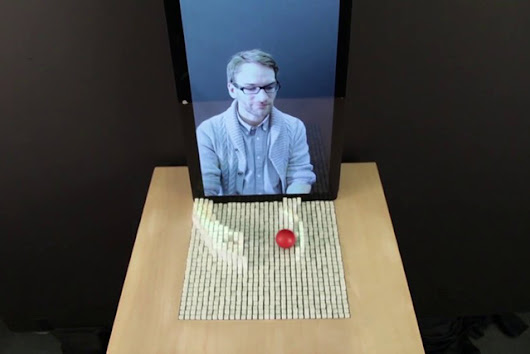 inForm - A Shapeshifting Device That Lets You Touch Stuff Through a Display