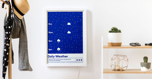 Internet-connected poster turns weather into wall art