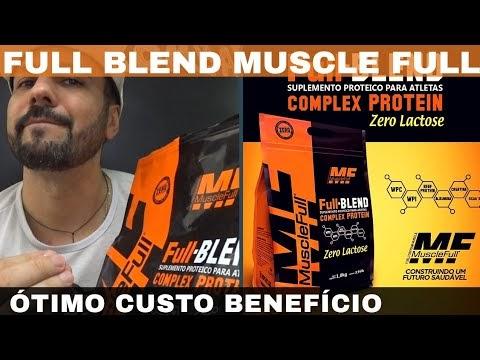 FULL BLEND MUSCLE FULL A  MELHOR COMPLEX PROTEIN CUSTO BENEFÍCIO. BOM E BARATO