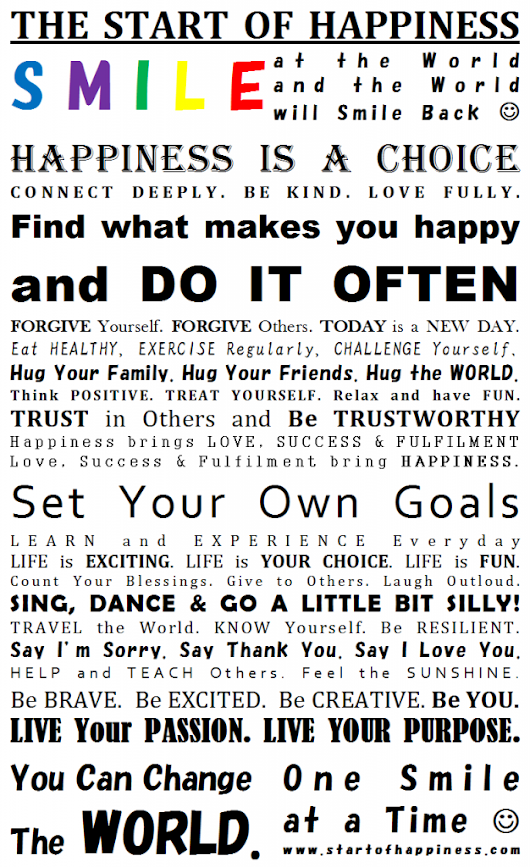 The Happiness Manifesto - Happy People - Sweet Angel
