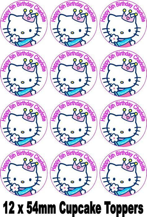HELLO KITTY PRINCESS CAKE TOPPER  PERSONALISED FREE