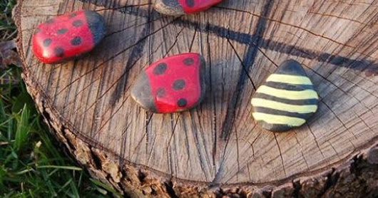Ladybug and Bumble Bee Tic-Tac-Toe | Summer Games, Rocks and Woods