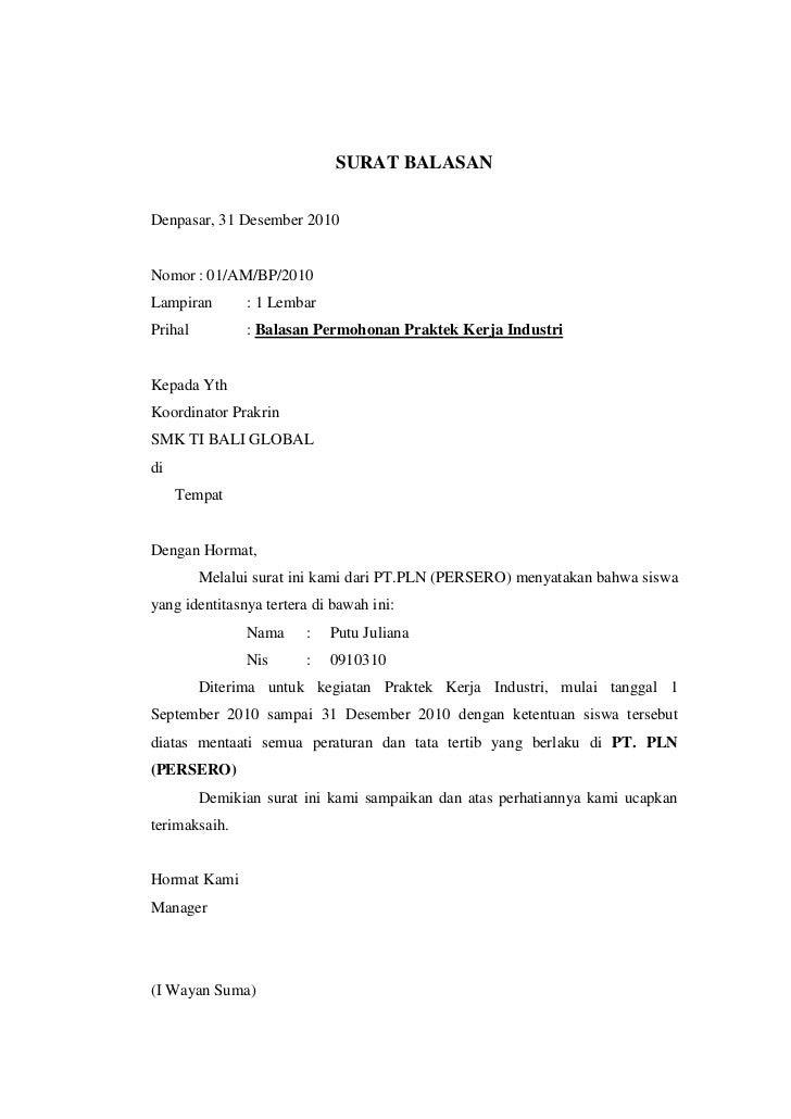 Surat Balasan Surat Resmi Surat Cc