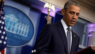 Obama, durant una intervenció a la Casa Blanca (Reuters)