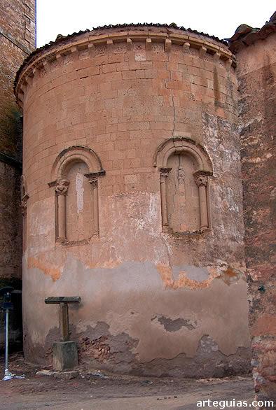 Exterior del ábside de esta iglesia