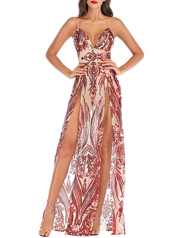 And plus size Deep V Neck Asymmetric Hem Curved Hem Floral Printed Sleeveless Maxi Dresses neck macy's