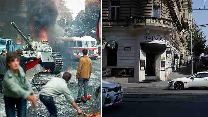 """Galería: Las imágenes de ayer y hoy a 50 años del fin de la """"Primavera de Praga"""""""