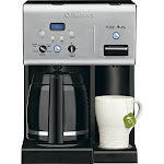 Cuisinart - Coffee Plus 12 Cup Programmable Coffeemaker Plus Hot Water System - Black