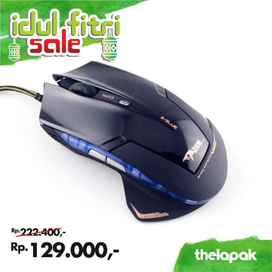 Harga E-Blue Mazer Type-R Optical Gaming Mouse - Black / Mouse Basic / Mouse Office / Perangkat Komputer #promoidulfitri