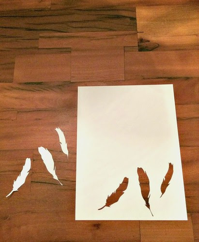 Cut Paper Feathers