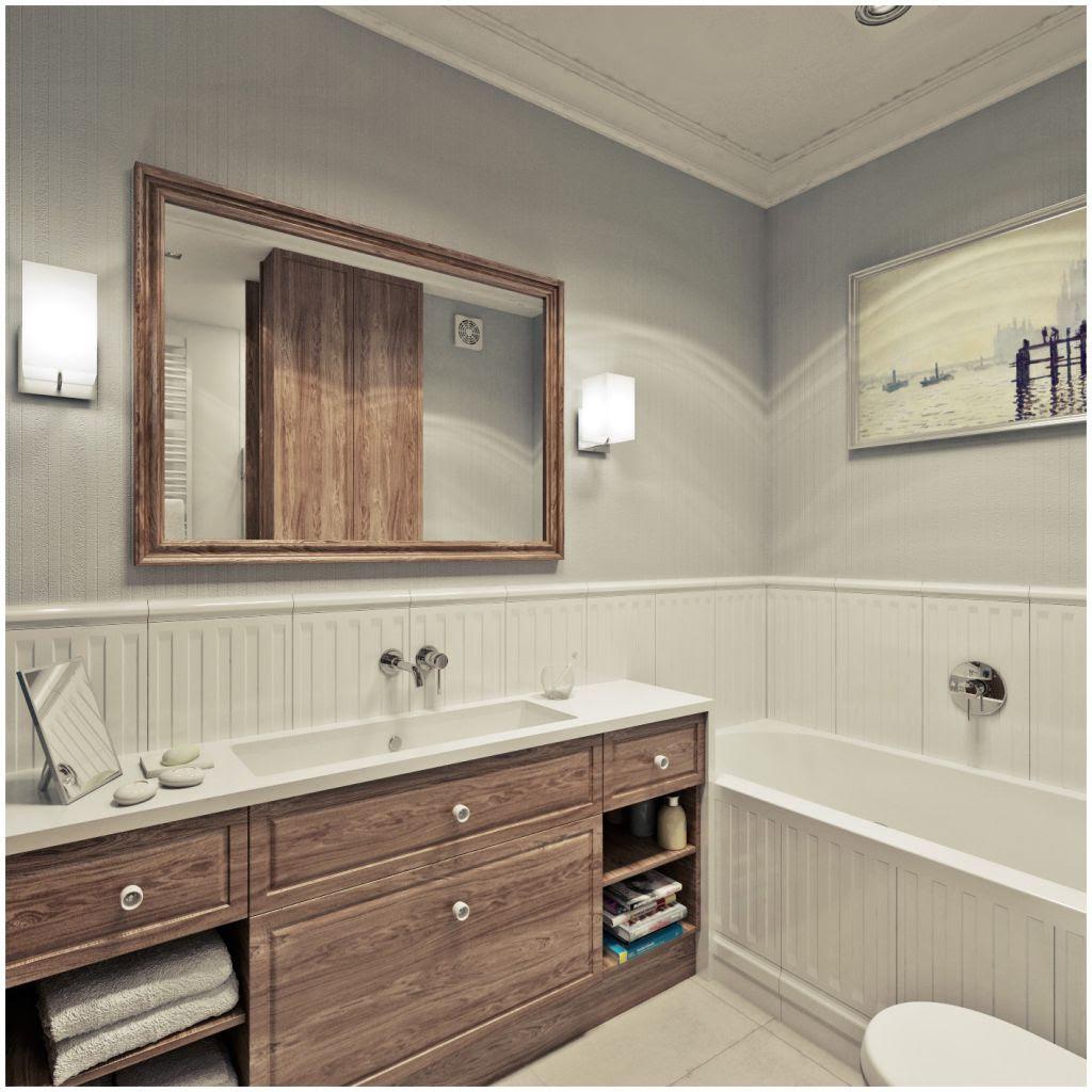 Jak urządzić łazienkę z drewnem? Szare łazienki aranżacje ...