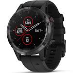 Garmin fenix 5 Plus 47mm Sapphire Multisport GPS Watch Black/Black Band