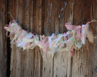 Ready to Ship Easter or Spring Scrap Fabric Ribbon by postscripts