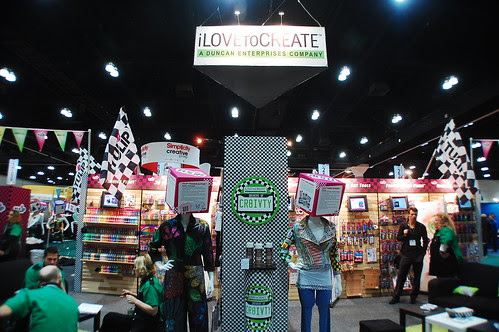 The iLoveToCreate Drivers of Creativity booth