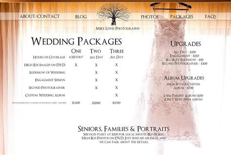 Photographer Price List Unique Basic Wedding Photography