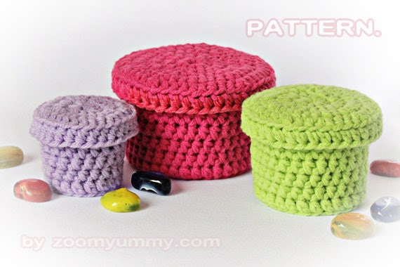 Crochet Boxes - PDF Pattern