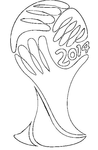 Coloriage Coupe Du Monde De Football 2014 Logo Coupe Du Monde 2014 4