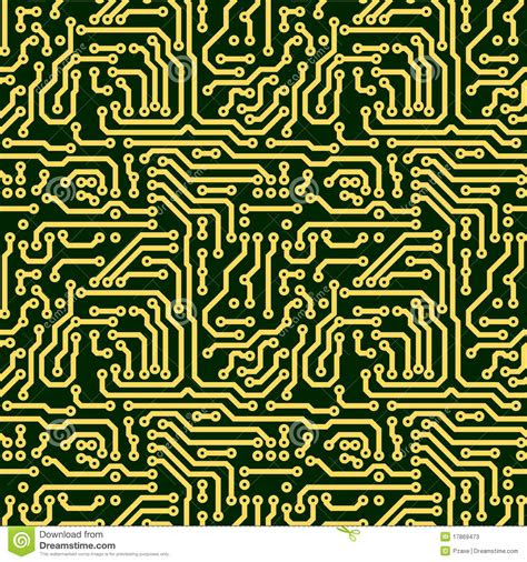 abstract seamless texture circuit board stock