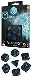 Q-WORKSHOP イングレス Ingress ダイスセット レジスタンス Resistance ブラック&ブルー