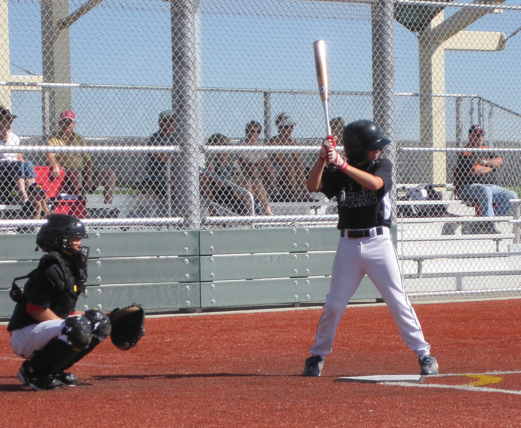 Jack at bat against the Warriors