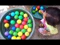 Asyiknya Mandi Bola Bersama Perahu Kertas ❤ Bath Balls With Paper Boat ❤ Kid Play