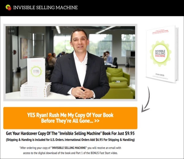 invisible selling machine book scam advertisement