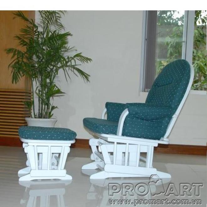 Bộ ghế thư giãn Shermag Glider lưng tròn, màu trắng, Size M, hàng xuất khẩu Châu Âu